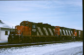 CN GP9RM 4031 (03.02.1988, Brockville, ON)