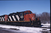 CN GP9RM 4111:2 (02.2008, Brockville, ON)