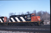 CN GP9RM 4143 (04.2004, Brockville, ON)